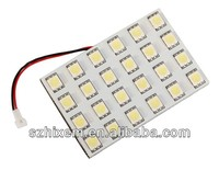 Auto LED Dome light PCB/Interiro Light-24SMD5050 with T10 Festoon connector LED Reading light Roof Light