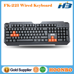 Best And Cheapest Wired Multimedia Gaming Keyboard With 8pcs Orange Gaming Keys