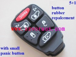 Chry 5+1 button rubber replacement(with small panic button), car key shell & auto key cover