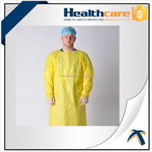 CPE GOWN,CPE Gown Disposable Downs Plastic Gown,CPE Isolation Gown with open cuff (blue)