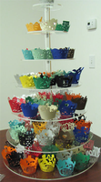 7 Tier Clear Acrylic Circle Wedding Cake Stand Table, Transparent 7 Layer Acrylic Cupcake Display Stand