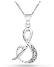 Nuovo design in metallo lettera iniziale s collana pendente, migliori amici collana di cristallo, ragazze collana