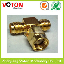 SMA rp female connector to male connector T type double rp female to male connector