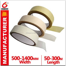 High Quality Heat Resistant Automobile Spray Painting Transparent Crepe Paper Masking Tape For Painting