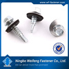 self-driling screw with EPDM washer hexagonal flange head self-driling screw with secanting countsunk head screw