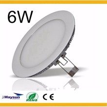 MAYSUN Manufacturer CE ROHS Ultrathin LED Panel Light, Round Panel Light 6W