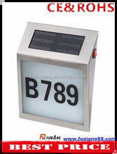 FQ-133 Useful and Environmental led solar power of house numbers led solar power address numbers light