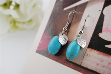 nature turquoise maple leaf earring