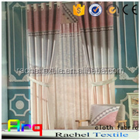 linen look 100% polyester fabric curtain, cushion cover, bedding fabric with plain printed linen style