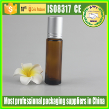 Brown Empty Roll On Roller Ball Bottle Refill Perfume Fragrance bottles 5ml
