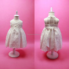Sexy V-Neck Backless Cotton Halter Dress For Flower Girls Of 9 Years Old Luxury Embroidery Princess Dress Baby Frocks