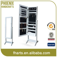 Fashion direct factory price cheval mirror jewelry display cabinet in china with led light