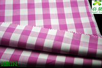 100% cotton yarn dyed red/white check fabric for ladies' blouse