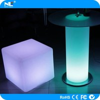 glowing new invention waterproof IP65 full color energy saving led cube for home/party/cafe