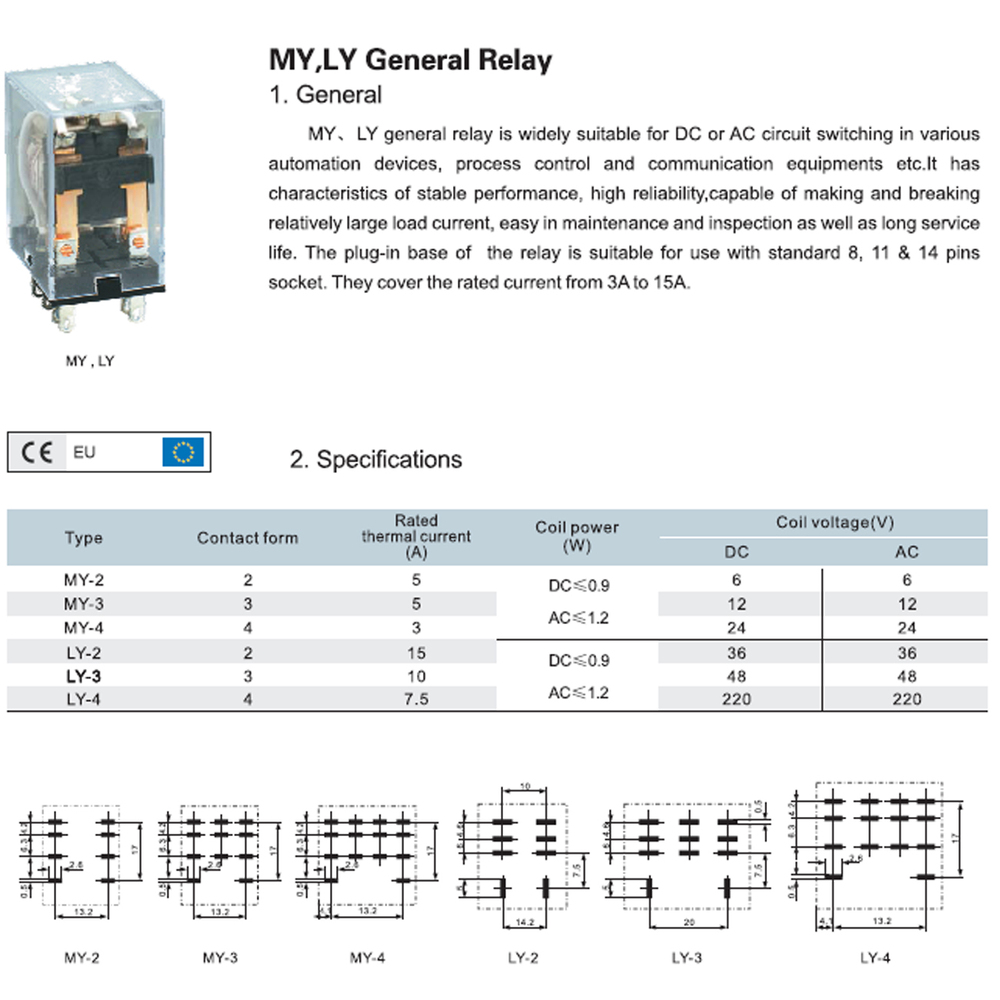 Time Delay Relay 220v Ly3 Ac/dc 220v Time Delay
