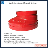 Ductile Iron Cast Pipe Fittings Grooved Eccentric Reducer