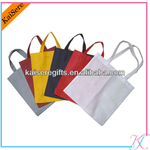 Favorites Compare White Non woven Shopping Bag with colorful flower printing
