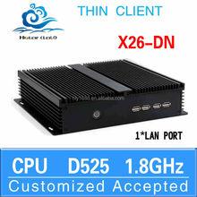 Network PC Smart Mini PC Htpc Computer Case Mini Cpu Desktop X26-DN D525 Support 3G and WiFi (LBOX-525) 8G RAM 16G SSD