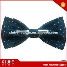 costume cotton dobby blue and white metal Clip on Bow Tie EU/US Standard OEM/ODM Neckties Manufactory