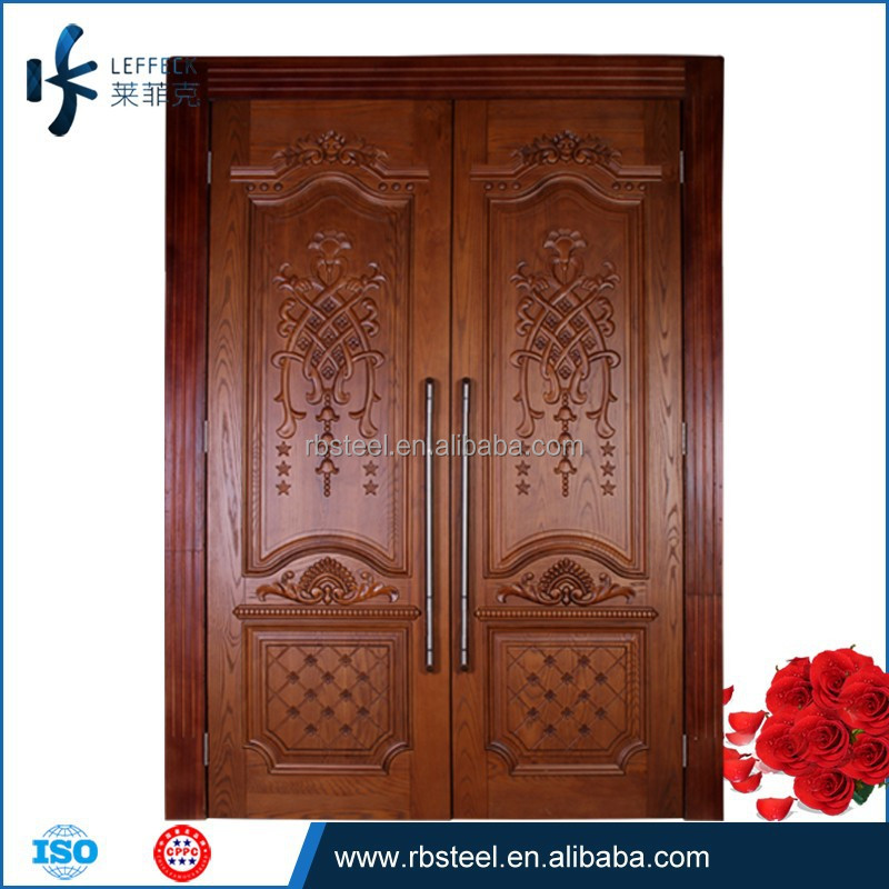 Luxury main door wood carving design carved wooden dorr for Residential main door design