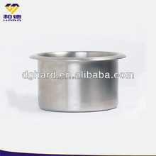 Stainless steel arm chair drink cup holder