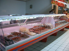 counter top Open Type Cooked Meat Display Case/deli display cooler / glass meat case