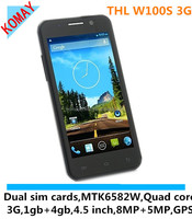 """KOMAY THL W100S Quad Core MTK6582M android 4.2 phone RAM 1GB with 4.5"""" screen 1.3GHz GPS cell Phone"""