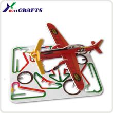 plastic credit card shape 3 d puzzles,3d cartoon card paper puzzle game
