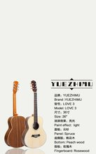 """36"""" Popular Travel Guitar Spruce Rosewood fully handmade with solid wood guitar"""