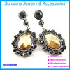Top design fashion earrings crystal jewelry earring