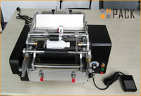 semi-automatic glue labeling machine for round bottles with paper label