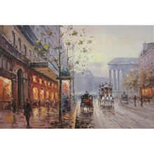Hot selling new designed paris street scene oil painting