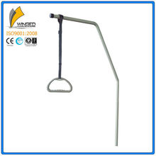 With adjustable strap free standing self help pole