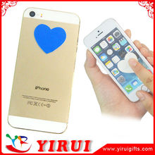 YS114 heart shape self adhesive microfiber sticker screen cleaner for ipad