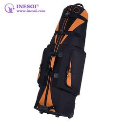 Folding Travel Golf Bag 600 Denier Polyester Golf Bag Custom Wheeled Golf Bag