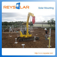 Ground screw pile for Photovoltaic power generation Earth screw pv solar mounting