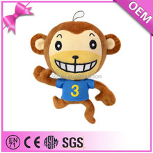 Funny emoji stuffed animals plush soft monkey toy with clothes