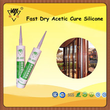 Glass Fast Dry Acetic Cure Silicone/Ahensive And Sealant For doors