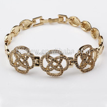 guangzhou silver chain bracelet, flower shaped Wholesale Jewelry wedding for women