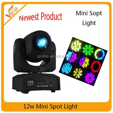 Hot!! party decorations led spot moving head light 12w led spot