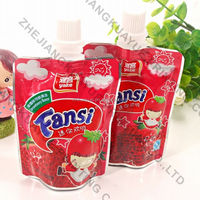 Liquid Stand Up Spout Pouches For Drink,Drinking Spout Pouch With Nozzle,Plastic Clear Drink Stand Up Spout Pouch
