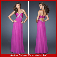 OC-2042 Sexy cut out back magenta prom dresses half price prom dress in china