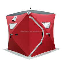 300D heavy duty pop up quick open ice fishing shelter