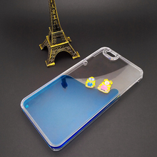 3D Liquid Cartoon Cover Despicable Me Yellow Minions Case For iPhone & Samsung Factory