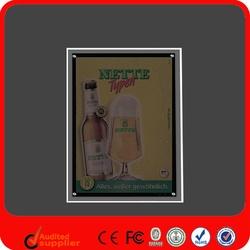 Acrylic Indoor Slim Advertising Dynamic Led Lighting Frame
