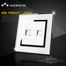 The new 2015 British standard computer and telephone wall socket White color