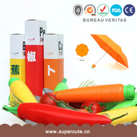 Retail outstanding PG carrot umbrella as gift umbrella vending machine