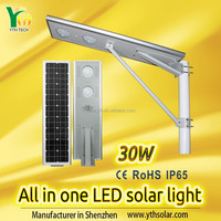 Solar power very cheapest LED solar street garden farm road lights streetlights from YTH China Factory good supplier