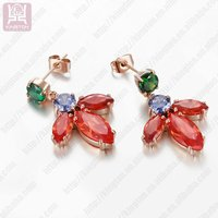 lastest design fashion nice big crystal wedding earrings