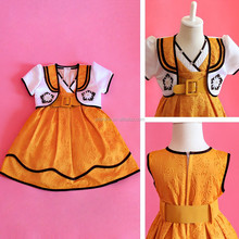 Wheat Two Piece Set Frocks of Different Style Frock Design for Baby Girl